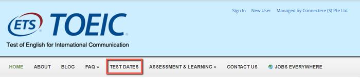 「TOEIC Listening & Reading(TOEIC L&R)」テストのシンガポール受験までの手順